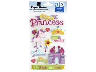 stickers: Paper House Sticker 3D Little Princess