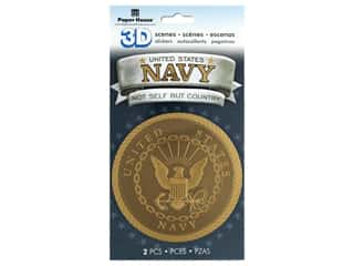 scrapbooking & paper crafts: Paper House Sticker 3D Navy Emblem