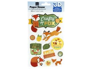 scrapbooking & paper crafts: Paper House Sticker 3D Crafty Like A Fox