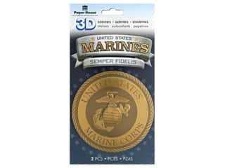 Paper House Sticker 3D Marines Emblem