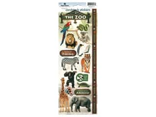 scrapbooking & paper crafts: Paper House Sticker Cardstock Zoo