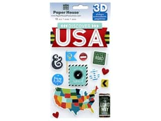 scrapbooking & paper crafts: Paper House Sticker 3D Discover USA