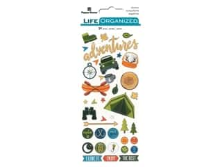 Paper House Collection Life Organized Sticker Puffy Outdoors