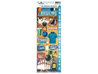 Paper House Sticker Cardstock Let's Go Bowling