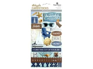 scrapbooking & paper crafts: Paper House Sticker Cardstock Multi Pack Beach