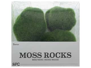 decorative floral: Darice Floral Faux Moss Rocks Green 8 pc