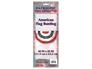 craft & hobbies: Darice Decor American Flag Bunting 48 in. x 25 in.