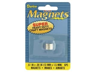 craft & hobbies: Darice Magnet Heavy Duty .51 in. Round 6 pc