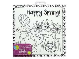 craft & hobbies: Darice Canvas Kit 8 x 8 in. Happy Spring