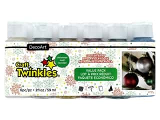 craft & hobbies: DecoArt Craft Twinkles Paint Value Pack Christmas 6 pc