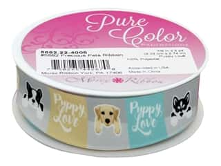 Morex Ribbon Precious Pet .88 in. x 3 yd Puppy Love