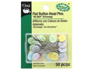 Buttons: Flat Head Pins by Dritz Buttons 2 in. 50 pc.
