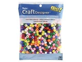 beading & jewelry making supplies: Darice Pony Beads 6 x 9 mm 720 pc. Opaque Colors