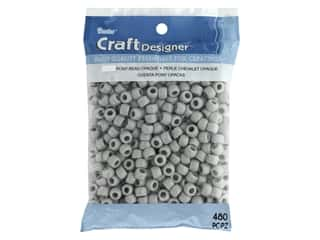 Darice Pony Beads 6 x 9 mm 480 pc. Opaque Grey