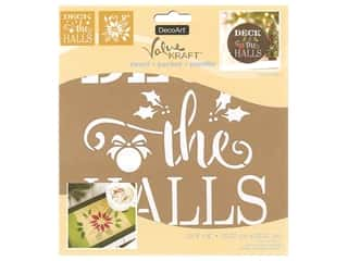 craft & hobbies: DecoArt Stencil Value Kraft 8 in. x 8 in. Christmas Deck The Halls
