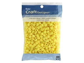 beading & jewelry making supplies: Darice Pony Beads 6 x 9 mm 480 pc. Opaque Lemon