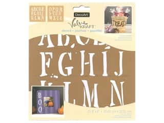 craft & hobbies: DecoArt Stencil Value Kraft 8 in. x 8 in. Halloween Spooky Alphabet