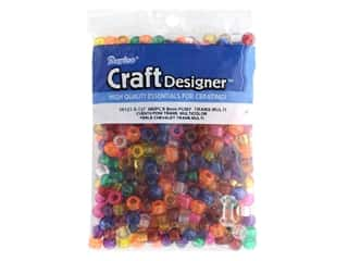 beading & jewelry making supplies: Darice Pony Beads 6 x 9 mm 480 pc. Transparent Colors