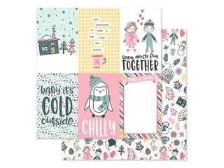 Simple Stories Collection Freezin Season Paper 12 in. x 12 in. Elements Vertical 4 in. x 6 in. (25 pieces)