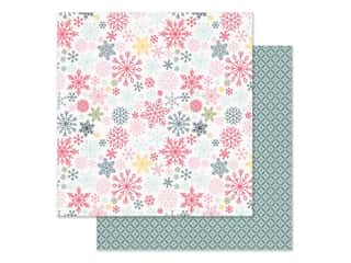 scrapbooking & paper crafts: Simple Stories Collection Freezin Season Paper 12 in. x 12 in. Flurries (25 pieces)