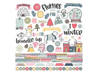 Simple Stories Collection Freezin Season Sticker 12 in. x 12 in. (12 pieces)