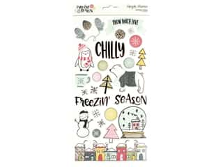 scrapbooking & paper crafts: Simple Stories Collection Freezin Season Chipboard 6 in. x 12 in.