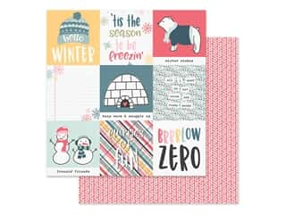 Simple Stories Collection Freezin Season Paper 12 in. x 12 in. Elements 4 in. x 4 in. (25 pieces)