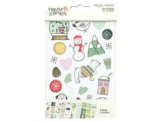 Simple Stories Collection Freezin Season Stickers 4 in. x 6 in.