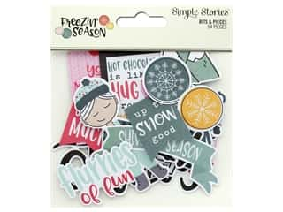 Simple Stories Collection Freezin Season Bits & Pieces