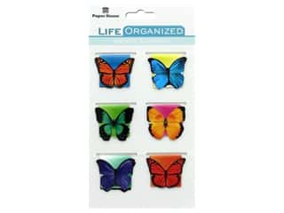 Paper House Collection Life Organized Magnetic Bookmark Butterflies