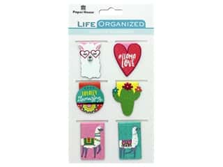 Paper House Collection Life Organized Magnetic Bookmark Llama