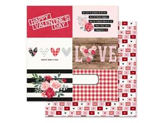 scrapbooking & paper crafts: Simple Stories Collection Kissing Booth Paper 12 in. x 12 in. Elements Horizontal 4 in. x 6 in. (25 pieces)