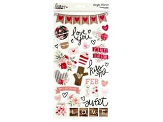 "Simple Stories Collection Kissing Booth Chipboard 6""x 12"""