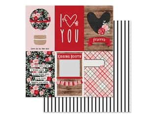 Clearance: Simple Stories Collection Kissing Booth Paper 12 in. x 12 in. Elements Vertical 4 in. x 6 in. (25 pieces)