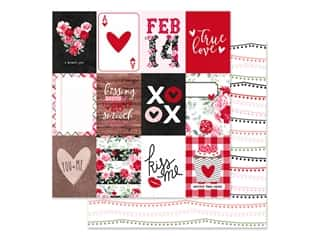 Clearance: Simple Stories Collection Kissing Booth Paper 12 in. x 12 in. Elements 3 in. x 4 in. (25 pieces)