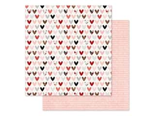 scrapbooking & paper crafts: Simple Stories Collection Kissing Booth Paper 12 in. x 12 in. Love Day (25 pieces)