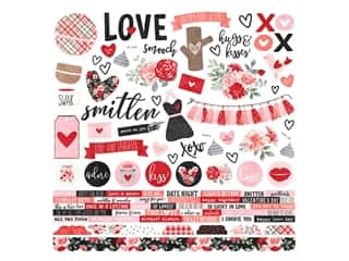 Simple Stories Collection Kissing Booth Sticker 12 in. x 12 in. (12 pieces)