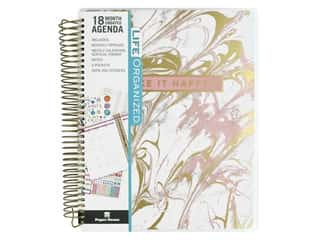 scrapbooking & paper crafts: Paper House Collection Life Organized Planner 18 Month Marble Pink
