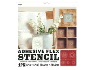 craft & hobbies: Darice Adhesive Flex Stencil 12 x 12 in. Starburst