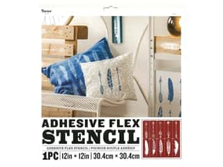 Darice Adhesive Flex Stencil 12 x 12 in. Arrow and Feather