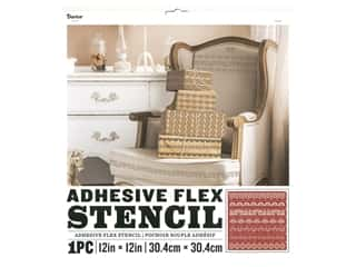 craft & hobbies: Darice Adhesive Flex Stencil 12 x 12 in. Lace