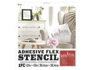 craft & hobbies: Darice Adhesive Flex Stencil 12 x 12 in. Stars and City