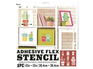 craft & hobbies: Darice Adhesive Flex Stencil 12 x 12 in. Cactus
