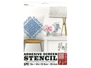 craft & hobbies: Darice Adhesive Screen Stencil 9 x 12 in. Lace