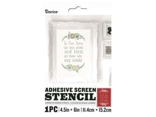 craft & hobbies: Darice Adhesive Screen Stencil 4 1/2 x 6 in. In Our Home