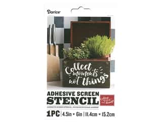 Darice Adhesive Screen Stencil 4 1/2 x 6 in. Collect Moments