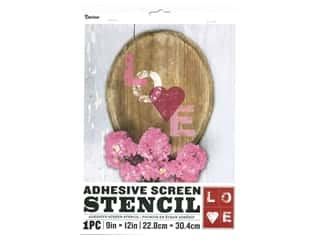 craft & hobbies: Darice Adhesive Screen Stencil 9 x 12 in. Love