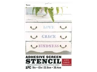 Darice Adhesive Screen Stencil 9 x 12 in. Love Grace Kindness