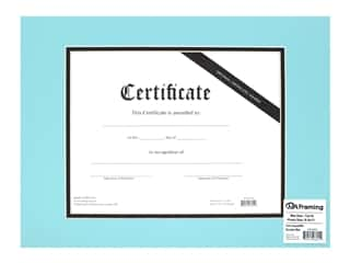 PA Framing Pre-cut Double Photo Mat Board Cream Core 12 x 16 in. for 8 1/2 x 11 in. Certificate Aqua/Black