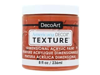 craft & hobbies: DecoArt Americana Decor Texture Acrylic Burnt Orange 8 oz